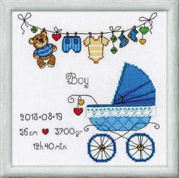 "Cross-stitch kit Riolis 1418 ""It's a Boy!"""