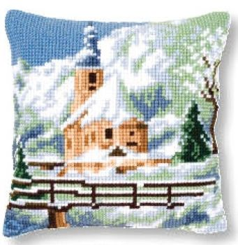 Vervaco cross stitch cushion PN-0021806 Winter landscape