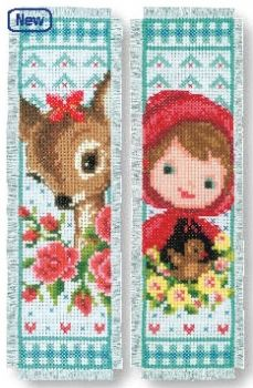 Book separator Bambi and the red hat girl - 2 pc.
