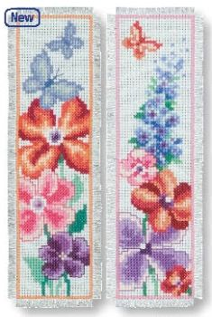 Book separator Flowers and butterflies- 2 pc.