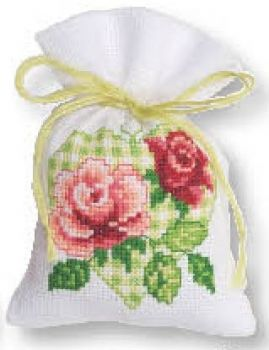 Cross-stitch bag Roses