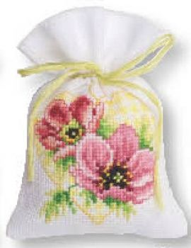 Cross-stitch bag Anemonia