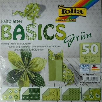 Origami paper Green - 20/20