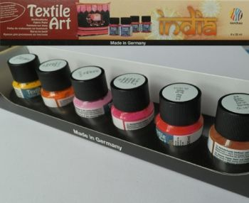 Nerchau textile paint kit - 6 paints India