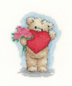 Cross-stitch kit Toffee with a Heart