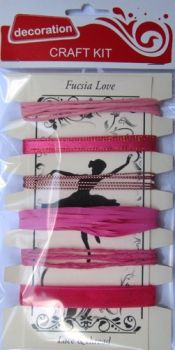 Ribbons Assorted - Fucsia Love