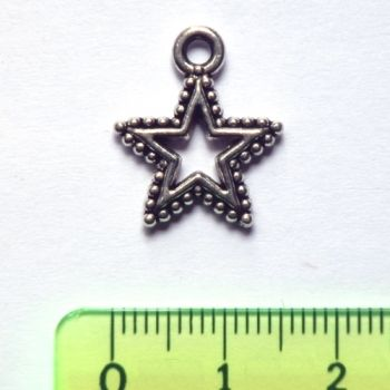 Metal pendant - Star with 5 rays
