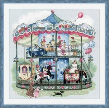 "Cross-stitch kit Riolis 1458 ""Carousel"""