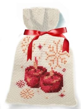 Cross-stitch kit bag - Christmas candles, Ravel