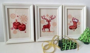 3 pc. cross-stitch kit Christmas time