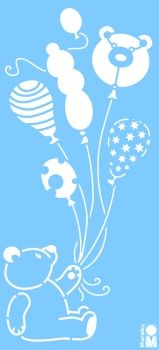 Stencil for decoration - Teddy Baloon, Marabu