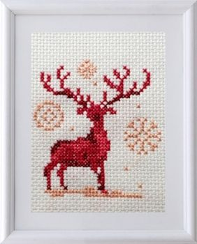 Cross-stitch kit Christmas deer