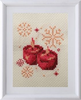 Cross-stitch kit Christmas candles