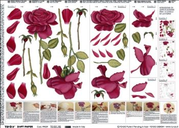 Decoupage paper Red roses