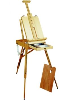 Sketch Box Easel from elm wood - CONDA