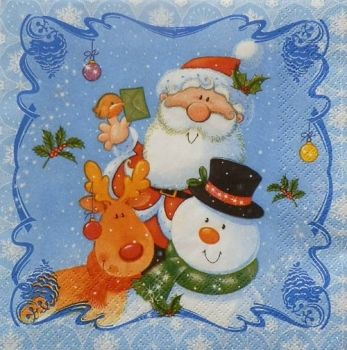 "Napkin for decoupage ""Father Christmas"""