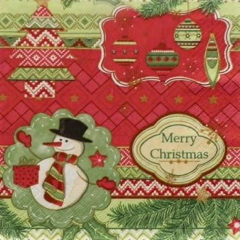 "Napkin for decoupage ""Snowman"""