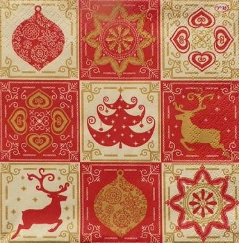 "Napkin for decoupage ""Christmas decorations"""