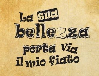 "Rubber stamp ""La sua bellezza porta via il mio fiato"" IT"