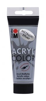 Acrylic paint Acryl Color metallic of Marabu  - anthracite