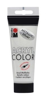 Acrylic paint Acryl Color metallic of Marabu  - white