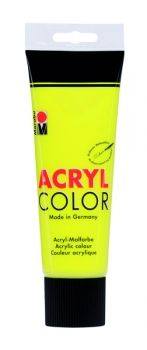 Acrylic paint Acryl Color of Marabu -  yellow, 225ml