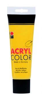Acrylic paint Acryl Color of Marabu - middle yellow, 225ml