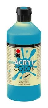 Acrylic paint Acryl Color of Marabu - cyan, 500ml