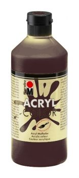Acrylic paint Acryl Color of Marabu - middle brown, 500ml