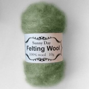 Wool green-grey forest walk
