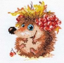 Alisa 0-75 cross-stitch Baby hedgehog