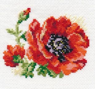 Alisa 0-80 cross-stitch Red poppy