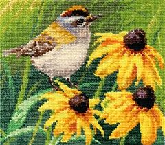 Alisa 1-21 cross-stitch Bird in the flowers