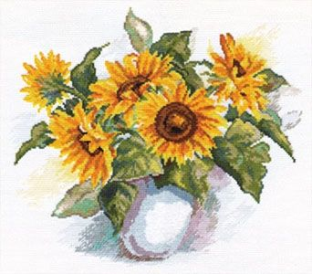 Alisa 2-08 cross-stitch Still life sunflowers
