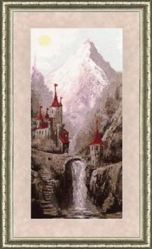 "Cross-stitch kit Zolotoe Runo ""ancient fortress"" LP-017"