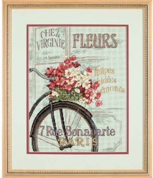 "Cross-stitch kit Dimensions ""Parisian Bicycle"""
