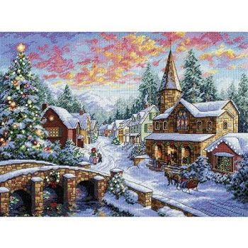 "Cross-stitch kit Dimensions ""Holiday Village"""