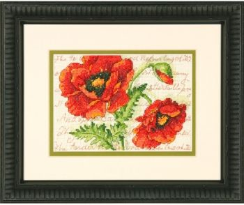 "Cross-stitch kit Dimensions ""Poppy Pair mini"""