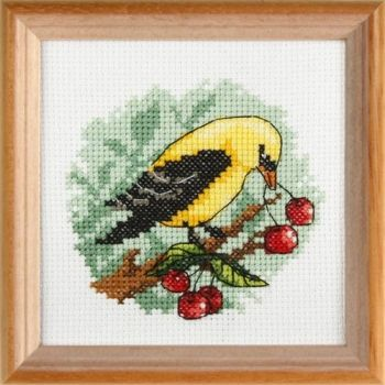 Cross-stitch kit Orchidea 7594 Yellow Bird