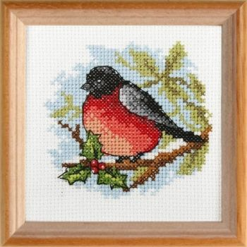 Cross-stitch kit Orchidea 7597 Robin bird