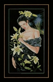 "Cross-stitch kit Lanarte PN-0155748 ""Lady with the white lilies"""
