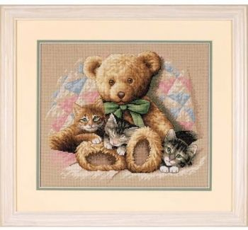 Cross-stitch kit Dimensions Teddy and Kittens""