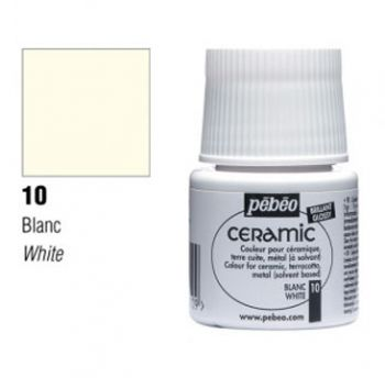 Ceramic paint Pebeo white
