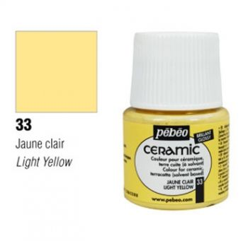 Ceramic paint Pebeo light yellow