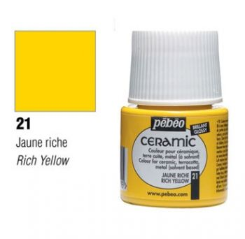 Ceramic paint Pebeo yellow