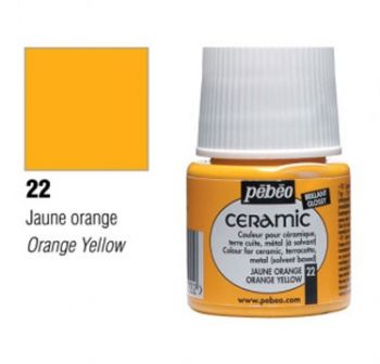 Ceramic paint Pebeo orange yellow