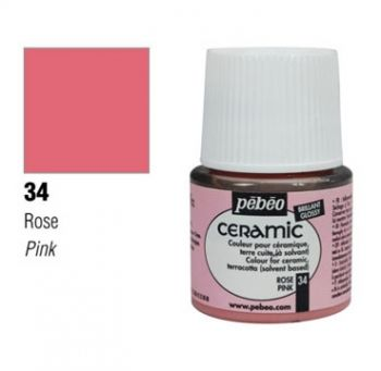 Ceramic paint Pebeo pink
