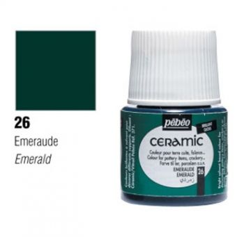 Ceramic paint Pebeo emerald