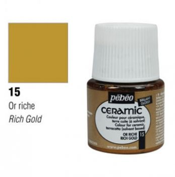 Ceramic paint Pebeo rich gold