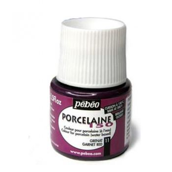 Porcelain paint Pebeo garnet red